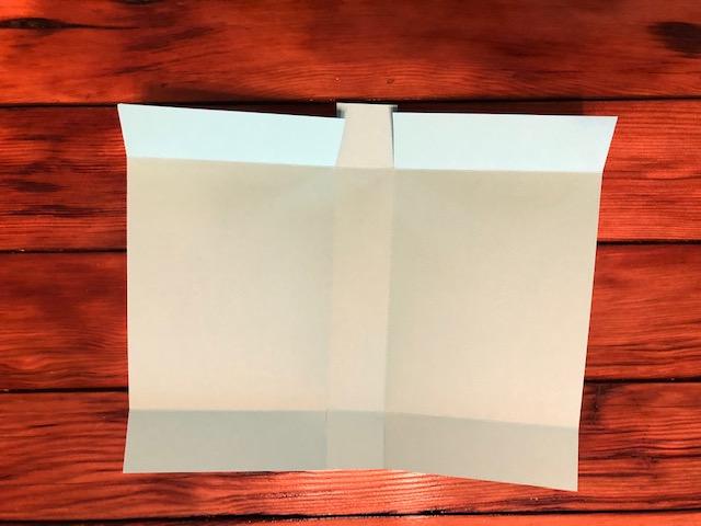 Snowman box folded