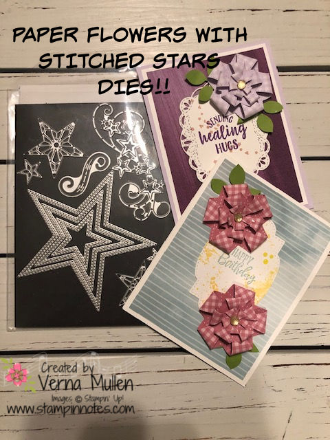 Stitched stars flowers with diesBLOGPIC