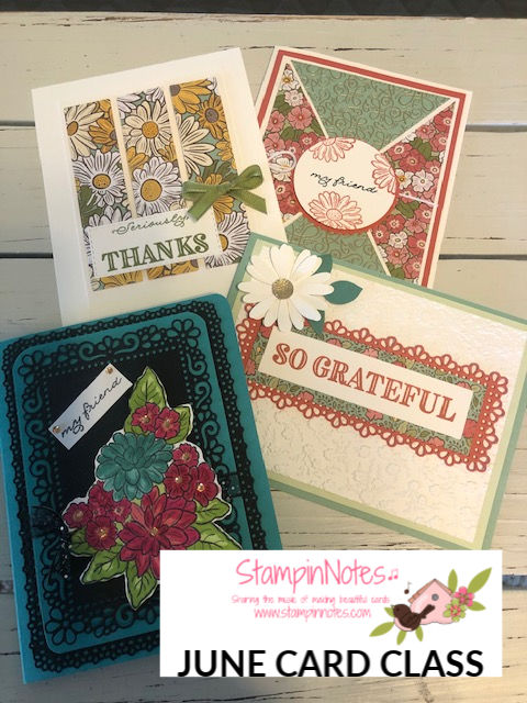Ornate garden cards JUNE CARD CLASS