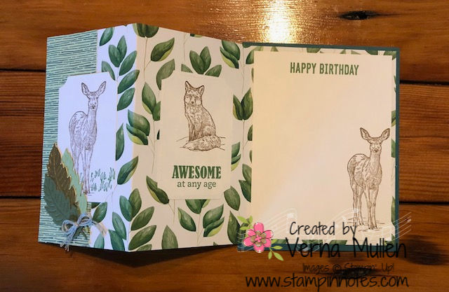 Forever Greenery masculine card open2