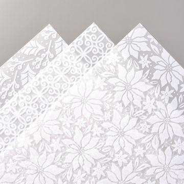 Plush poinsettia specialty paper