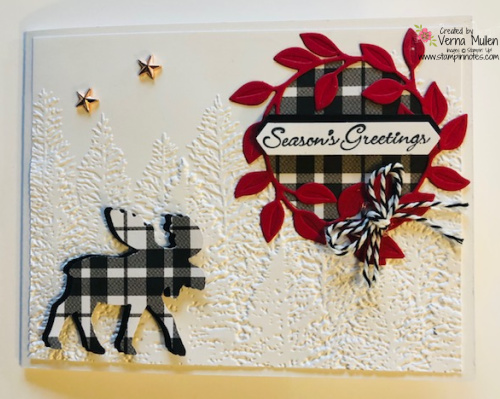 Merry Moose plaid with Evergreen2