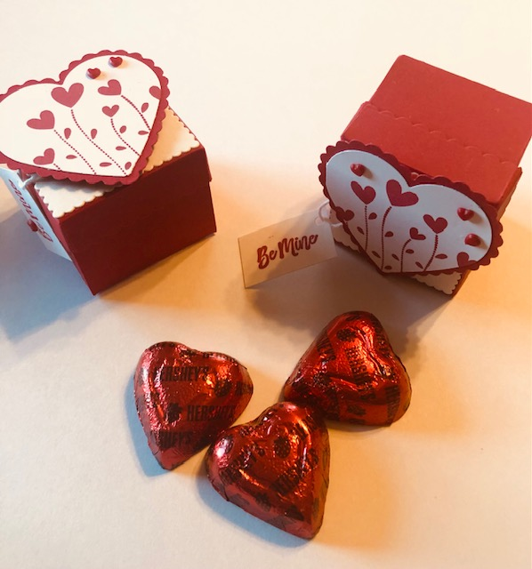 Heart chocolate boxes