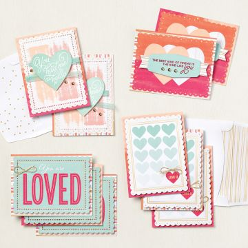 Sweet little valentines cards and more set