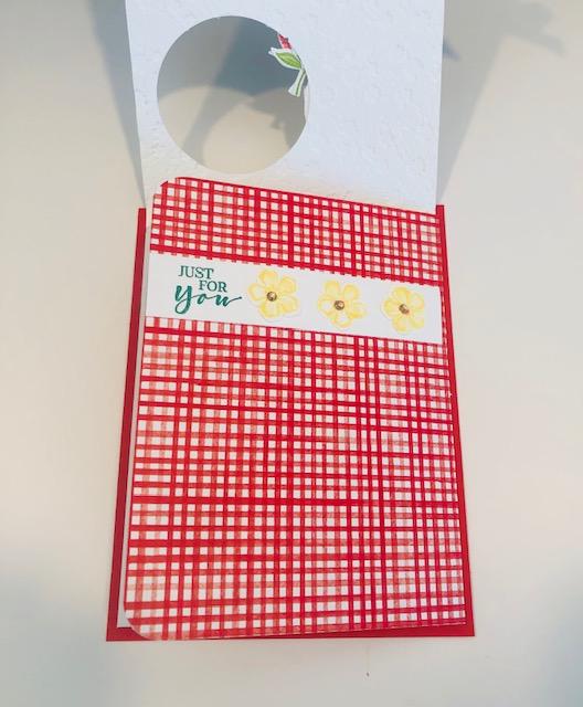 Sweet strawberry 2 flap fun fold card inside 1