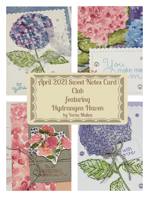 April 2021 Sweet Notes Card Club collage