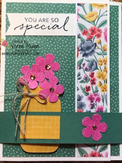 Jar of flowers card 2