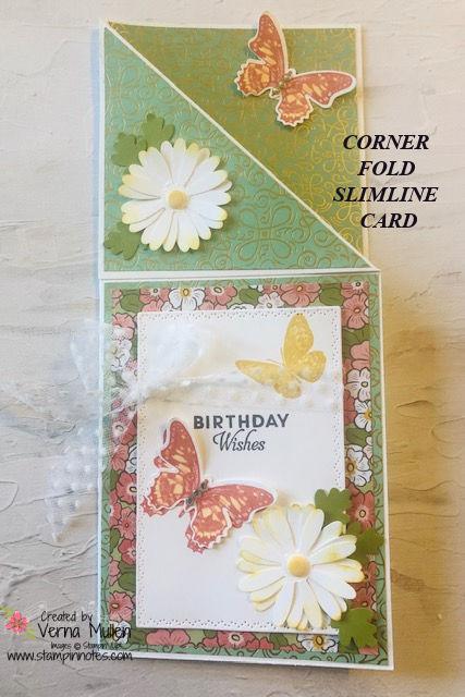 Slimline card daisy 2