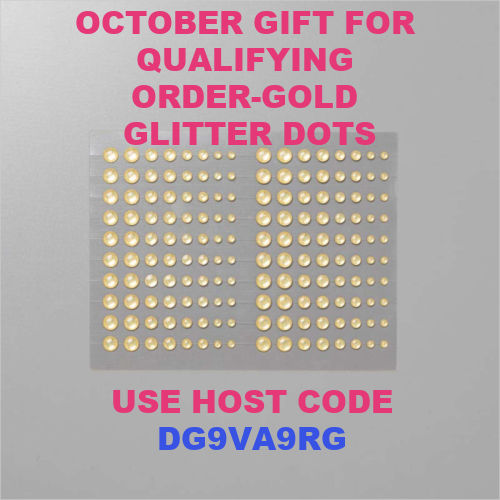 October host code and Gold glimmer enamel dots