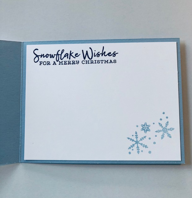 Snowflake wishes inside