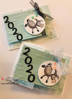 Donkey new year card both2