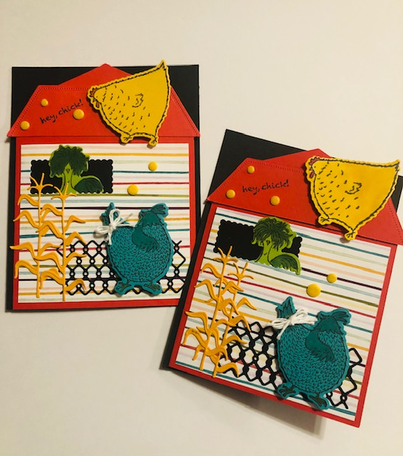 Hey Chick barn card 2 cards