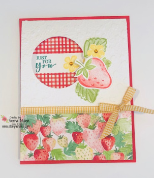 Sweet Strawberry 2 flap fun fold card 2