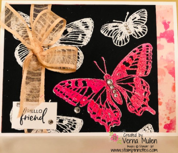Butterfly brilliance embossed pink2