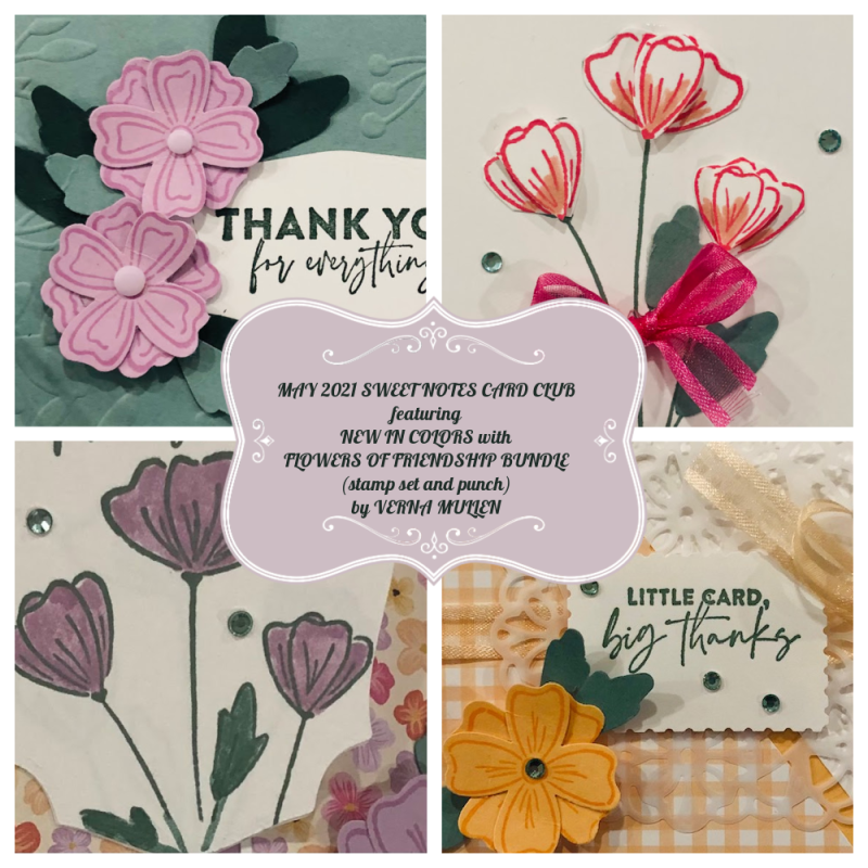 May 2021 Sweet Notes Card Club Collage