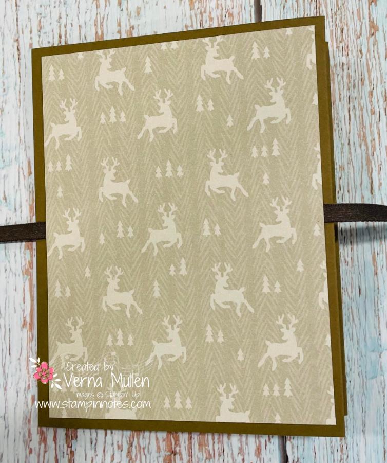 Peaceful Deer Triple Panel Card back2