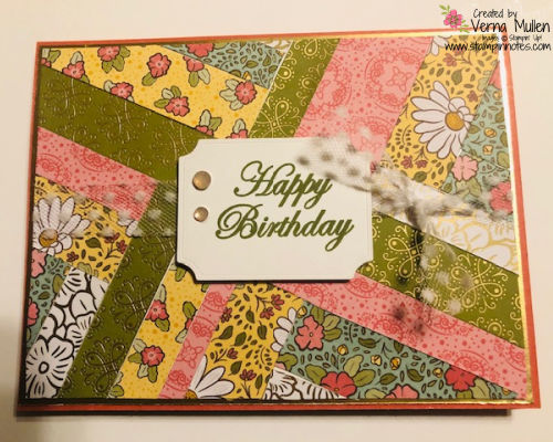 Ornate Garden DSP herringbone card2