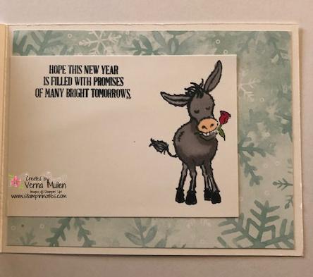 Donkey new year card inside big2