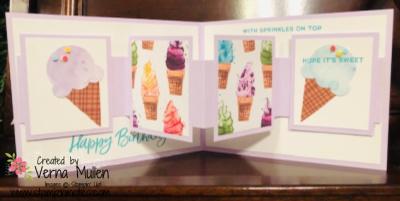 Sweet ice cream inside banner card inside2