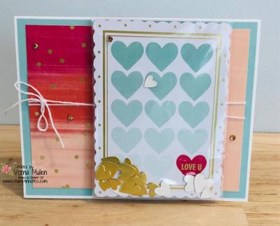 Sweet little valentines cards shaker single love u 2