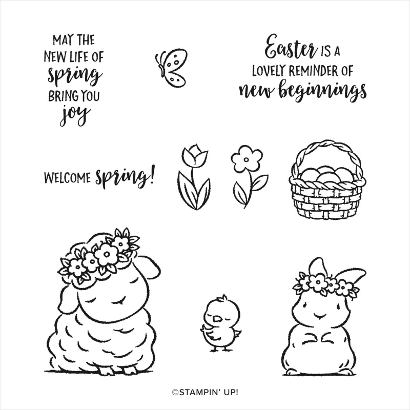 Springtime joy stamp set