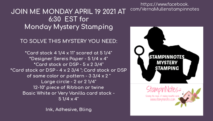 Monday Mystery Stamping 4-19-21