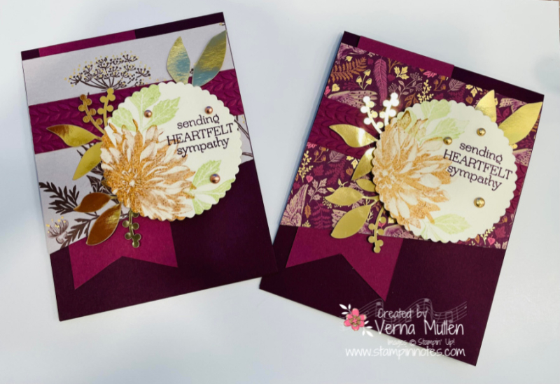 Delicate dahlia blackberry two cards2