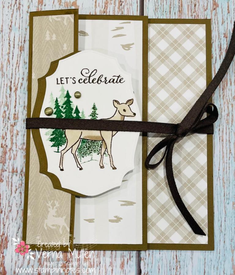 Peaceful Deer Triple panel card2