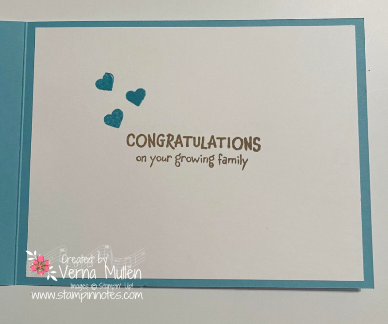 All for baby card inside 22