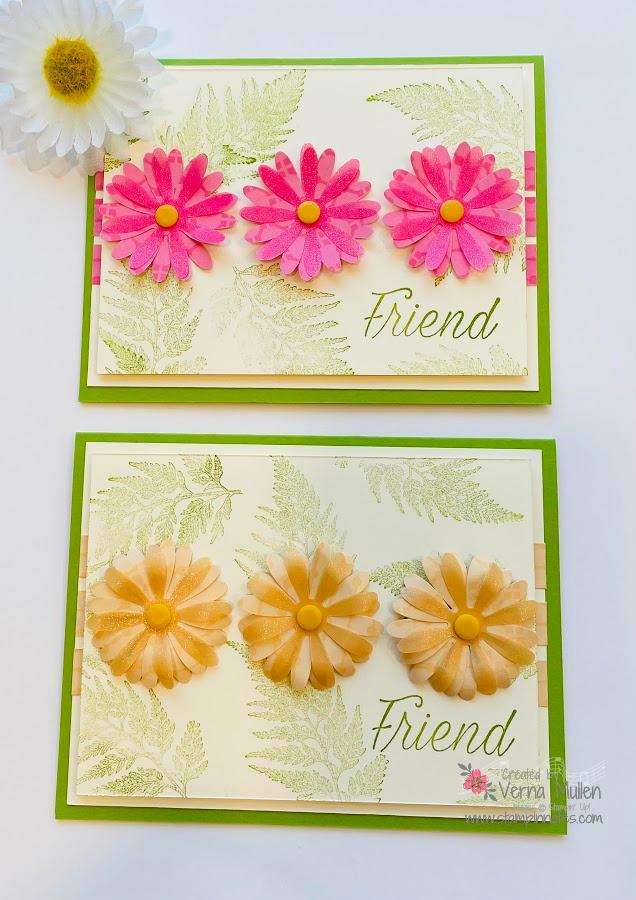 Daisy cards with vellum 2