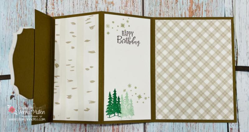 Peaceful Deer Triple PANEL CARD OPEN2